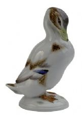 Meissen Porcelain Bird Figurine - Duck White